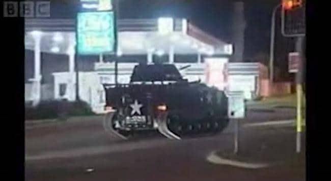Tank rampage in Sydney (2007)
