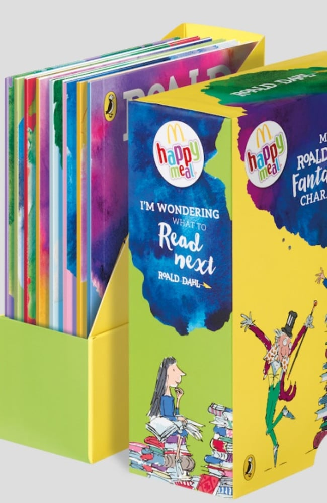 If you purchase a Happy Meal, you can now collect eight Roald Dahl Happy Reader Books.