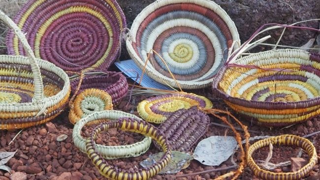 The weaving process was surprisingly exhausting. Image: Supplied
