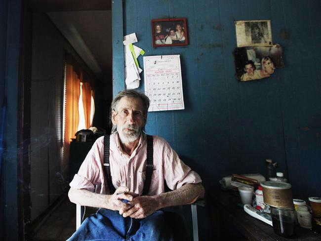 Paul Neace, 72, sits in his home in Owsley County where 40 per cent are below the poverty line and 80.95 per cent are registered Republicans. Picture: Mario Tama/Getty Images