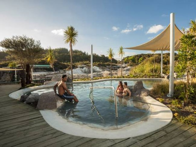 Hells Gate geothermal park and spa Rotorua Sulphur baths. Picture: Rotorua Tourism