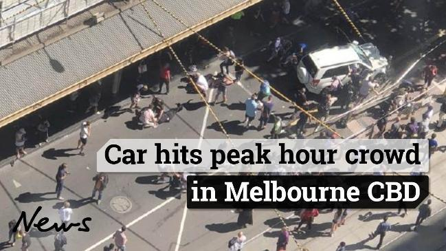 Car hits peak hour crowd in Melbourne CBD