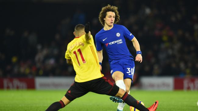 Chelsea's Brazilian defender David Luiz finally returned to the side for their clash with Watford