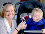 Anita Atkins with her son Jack (2 years). Jack will be a patient at the new Lady Cilento Children�s Hospital at South Brisbane. Pic Mark Cranitch.