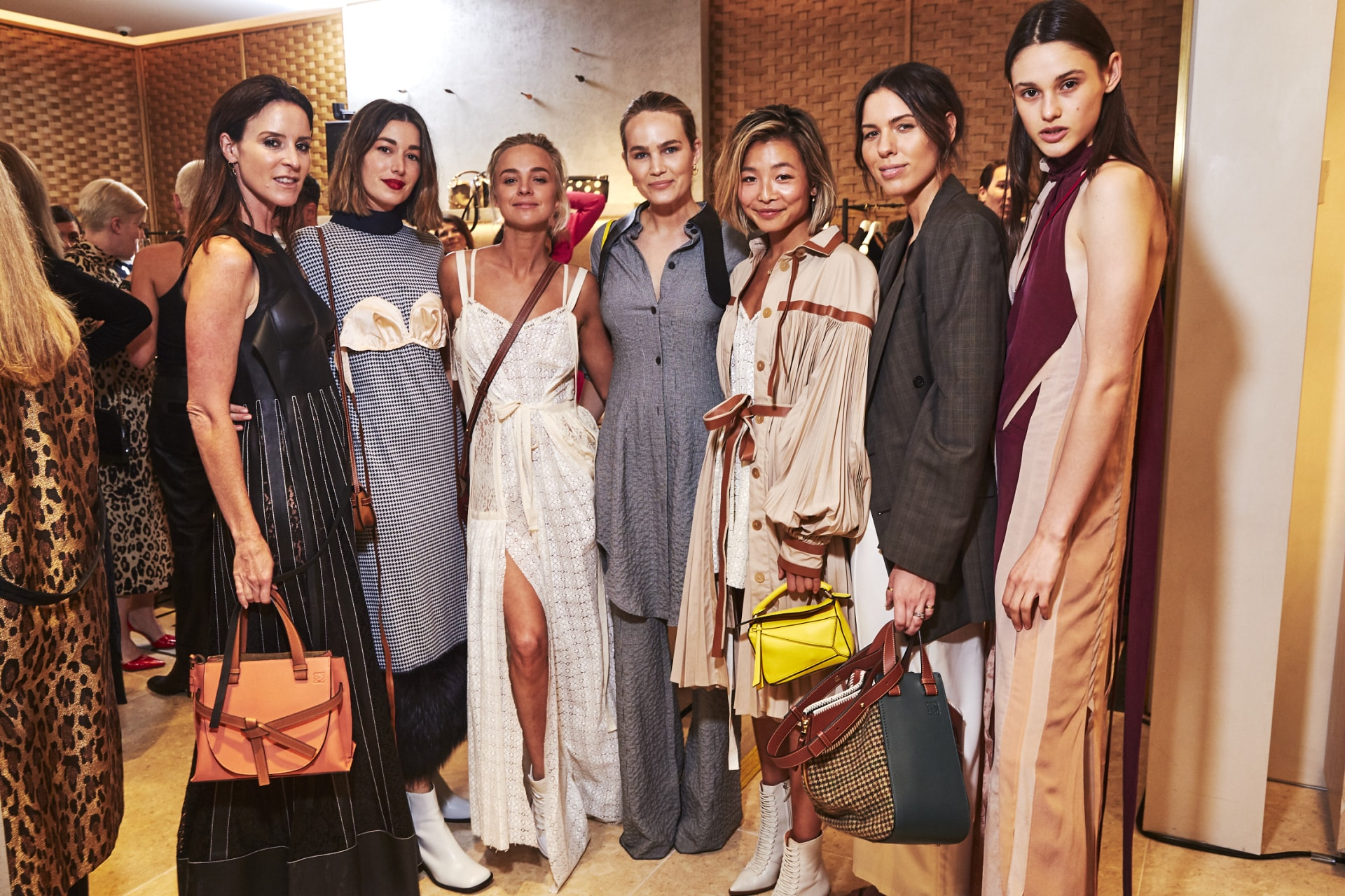 Inside the opening of Loewe's new Sydney boutique