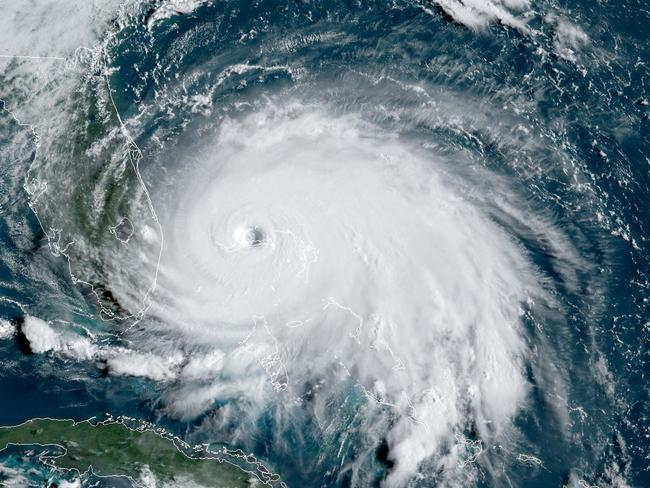 This satellite image obtained from NOAA/RAMMB, shows Tropical Storm Dorian as it approaches the Bahamas. Picture: NOAA/AFP