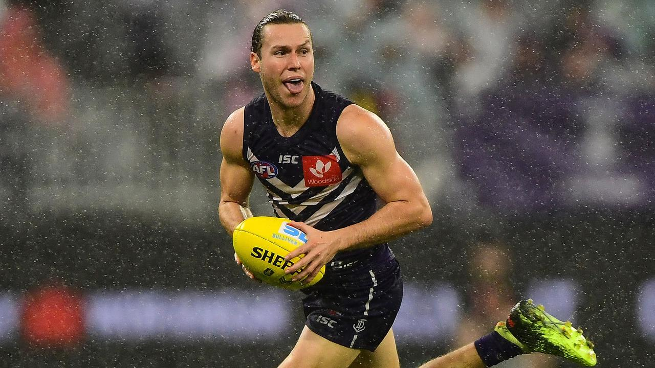 Ed Langdon is set to be traded from the Dockers to Melbourne. Picture: Daniel Carson