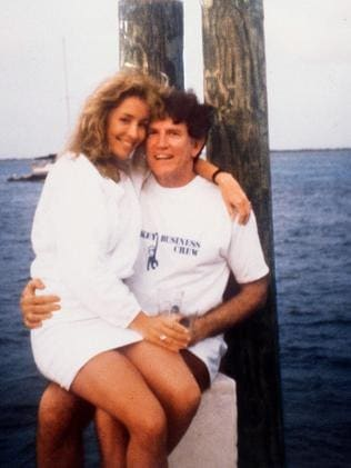 Actor/model Donna Rice sitting on Gary Hart's lap. This image was published on the cover of National Enquirer — and helped end his campaign. Picture: APP