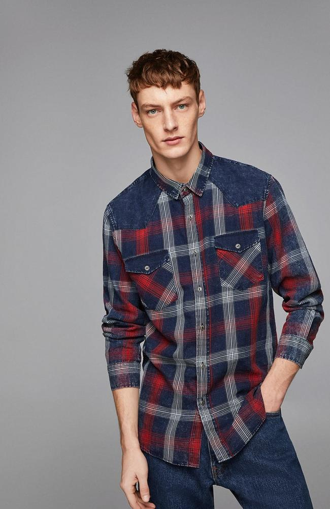 Combined checked shirt, $59.95.