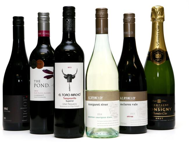 Some of the wines available within Aldi stores, and rated among the best at the Sydney Wine Competition. Picture: Supplied