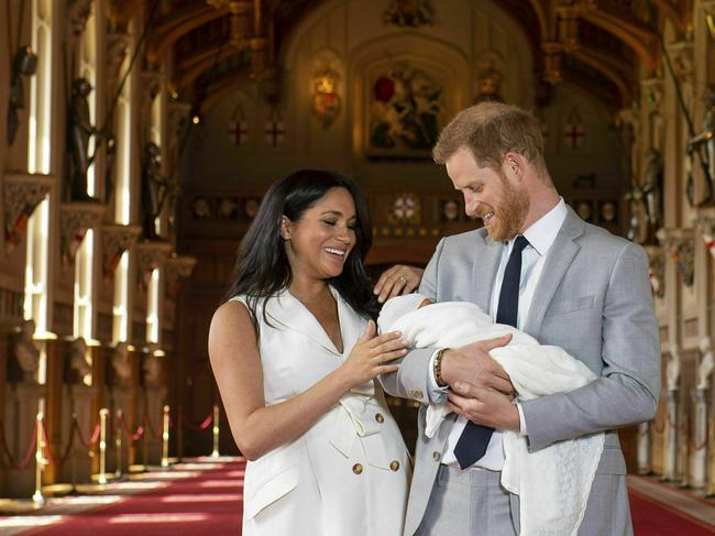 The couple have made a new life in Los Angeles with their son, Archie. Picture: AP