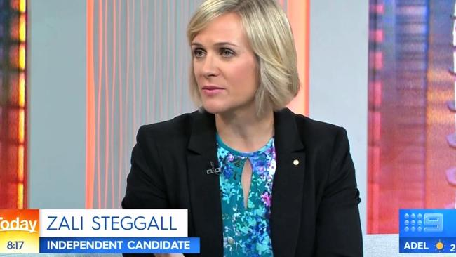 Zali Steggall on Today this morning. Picture: Nine