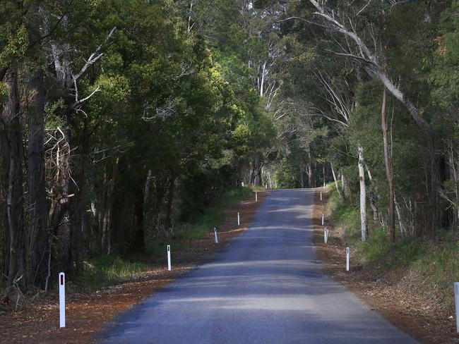 Batar Creek Road, the main road which leads from Kendall to Benaroon Drive from where William Tyrell disappeared. Picture: David Moir