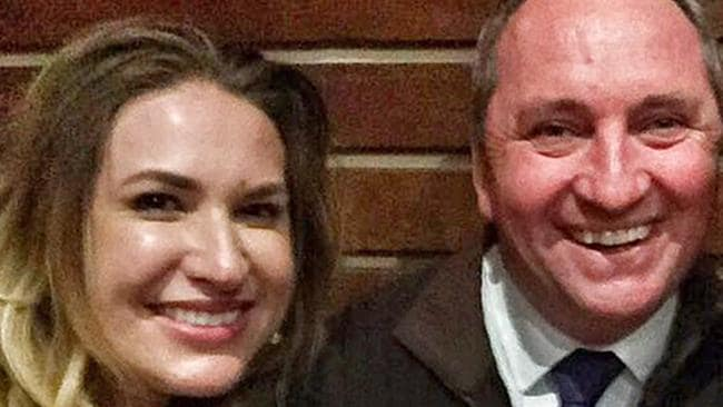 Vikki Campion and Barnaby Joyce.