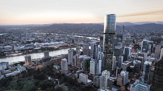 Brisbane Skytower will soar above the city skyline.
