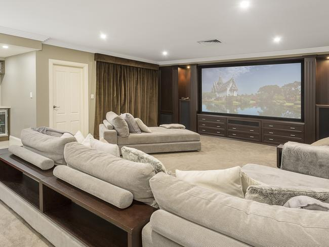 The home theatre room