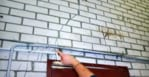 Cracks can be seen in the brick walls. Picture: ABC News