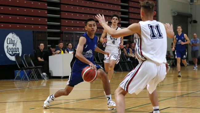 Cairns State High v Brisbane State High at The Champion Basketball Schools Queensland at Logan Metro centre, Brisbane 19th of September 2019. (AAP Image/Josh Woning)