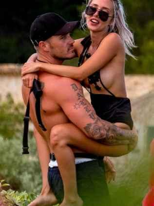 Love Island Australia's Eden and Erin. Picture: Channel 9 Source:Channel 9