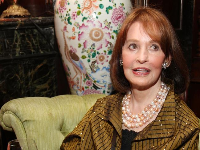 In her later years, Gloria Vanderbilt became a well-respected artist. Picture: AFP
