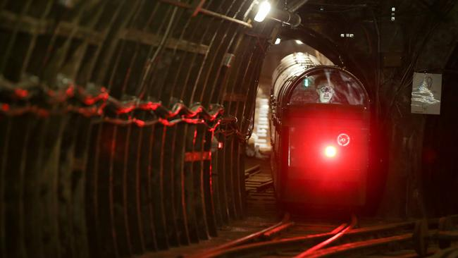 The system has now been reopened allowing visitors travel through the tiny tunnels under London and learn about the role of the Royal Mail. Picture: AFP/Daniel Leal-Olivas