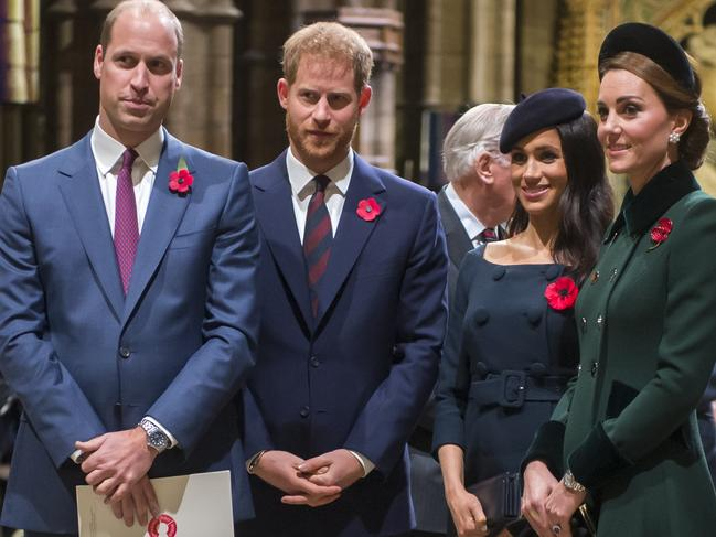Rumours swirl that the Cambridges and Sussexes are fighting. Picture: Getty