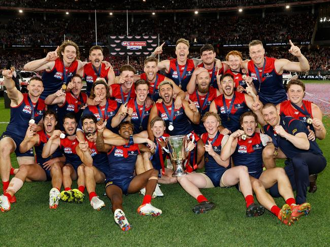 The Demons broke their 57-year premiership drought. (Photo by Michael Willson/AFL Photos via Getty Images)