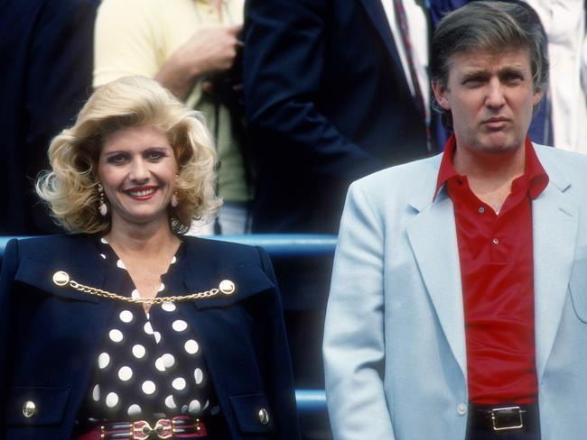 Ivana Trump and Donald Trump at the U.S. Open Tennis Tournament in 1988. Picture: PL Gould/IMAGES/Getty Images