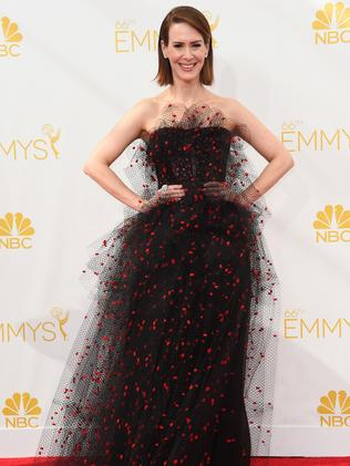 Sarah Paulson attends the 66th Annual Primetime Emmy Awards.