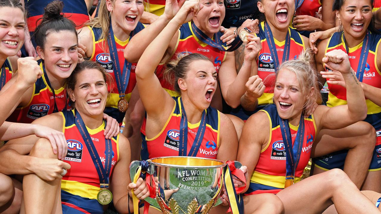 Adelaide won the AFLW premiership in 2019.