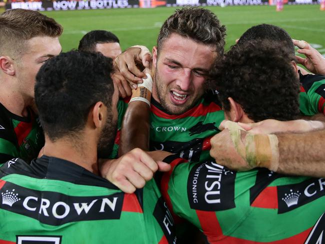 Sam Burgess also thanked teammates for their support.