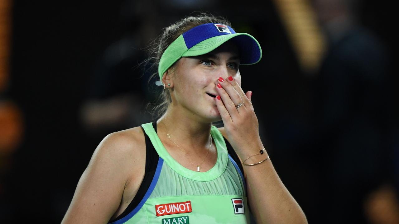 Sofia Kenin was able to overcome tears in the third set. Photo: Saeed KHAN / AFP
