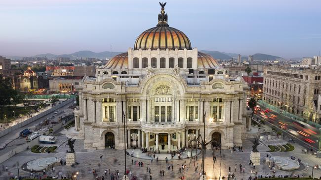 Mexico City's incredible Palace of Fine Arts.