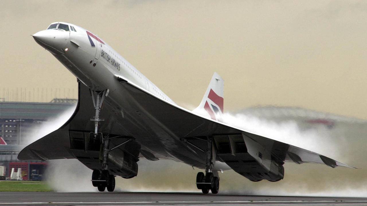 Concorde takes off from Heathrow Airport, UK, in 2001. Picture: Getty