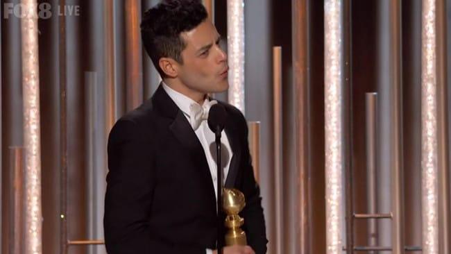 Remi Malek won the Globe for Best Actor.