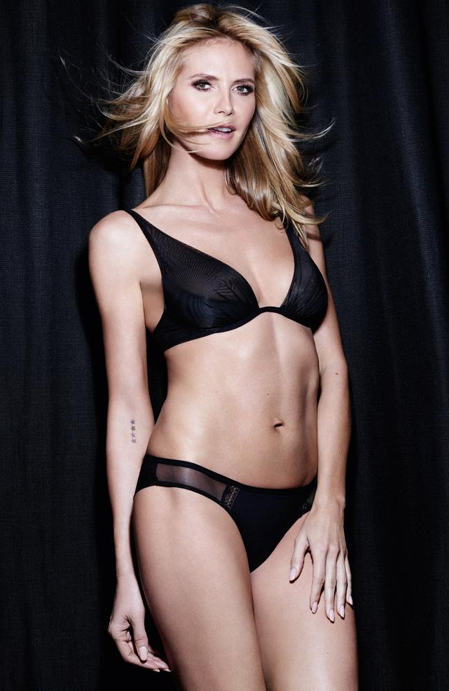 Understated, sleek and simple from Heidi Klum. Picture: Bendon