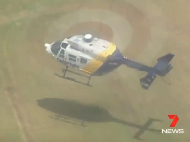The man was placed in a coma before being flown to hospital. Picture: Seven News