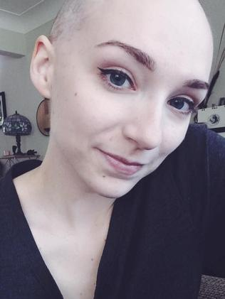 Her boyfriend at the time spent an hour in the shower helping her shave her head.