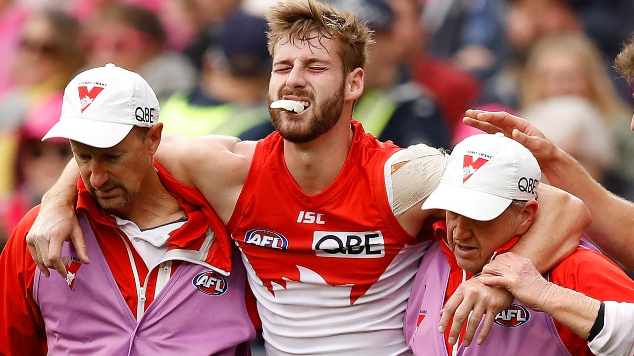 Alex Johnson has suffered a suspected seventh ACL tear (Photo by Adam Trafford/AFL Media/Getty Images)