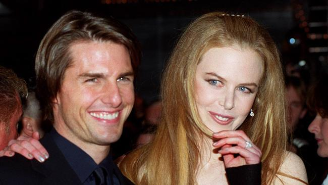 Nicole Kidman and Tom Cruise at the premiere of Eyes Wide Shut in 1999.