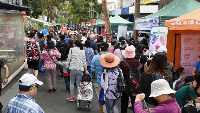 Box Hill Chinese New Year Festival draws more than 150,000 people each year. Picture: Lawrence Pinder
