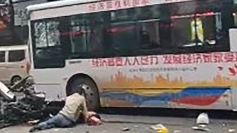 china man hijacks bus and drives into crowd killing injuring many. Black Bedroom Furniture Sets. Home Design Ideas