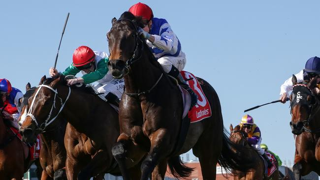 Jye McNeil riding Super Titus. Picture: Getty Images
