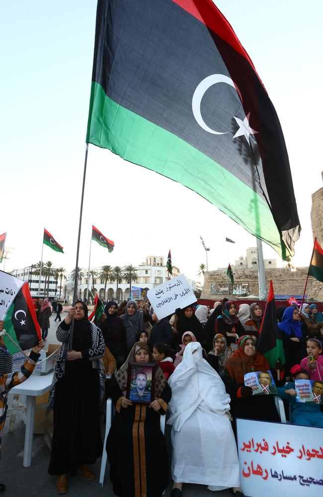 There are fears IS is gaining a hold in Libya as the country is in chaos after the death of dictator Muammar al-Gaddafi. Picture: AFP PHOTO / MAHMUD TURKIA.