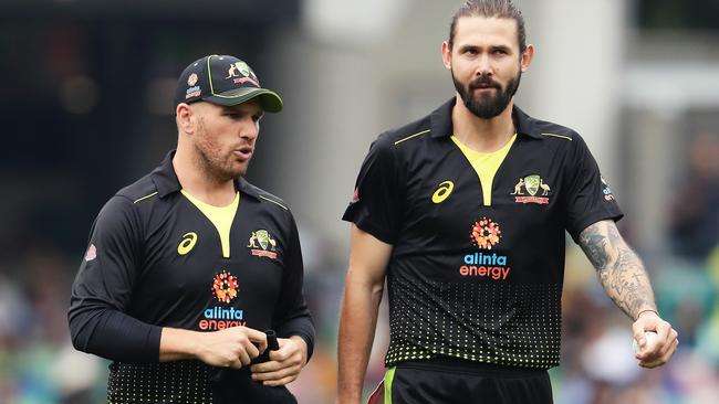 Australian captain Aaron Finch can rely on Kane Richardson at the death.