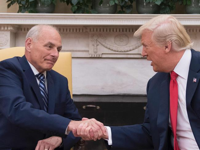 Kelly is thought to have formed a pact with Jim Mattis for one of them to always be in the White House, the AP reports. Picture: AFP PHOTO / JIM WATSON