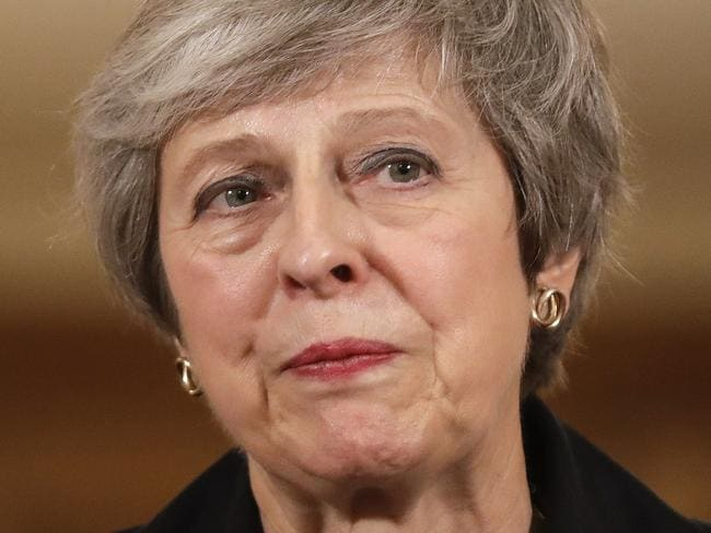 British Prime Minister Theresa May ... her tearful exit has seen about 20 candidates line up to take her job. Picture: Getty