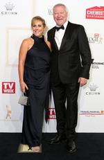 Scott Cam and wife Ann arrive on the red carpet at the 59th annual TV Week Logie Awards on April 23, 2017 at the Crown Casino in Melbourne, Australia. Picture: Julie Kiriacoudis