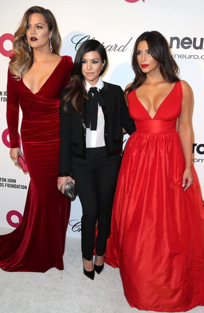 Intern hunt... Khloe, Kourtney and Kim Kardashian attend the 22nd Annual Elton John AIDS Foundation's Oscar Viewing Party on March 2nd in Los Angeles. Picture: Getty