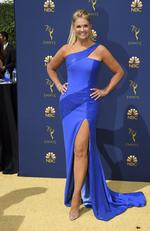 Nancy O'Dell arrives at the 70th Primetime Emmy Awards on Monday, Sept. 17, 2018, at the Microsoft Theater in Los Angeles. (Photo by Jordan Strauss/Invision/AP)